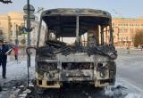 В Йошкар-Оле сгорел автобус